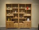 老榆木免漆书柜实木书架新中式家具展示架禅意博古架茶叶架
