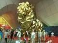2017火爆全国的黄金镜面狮巡展镜面狮租赁