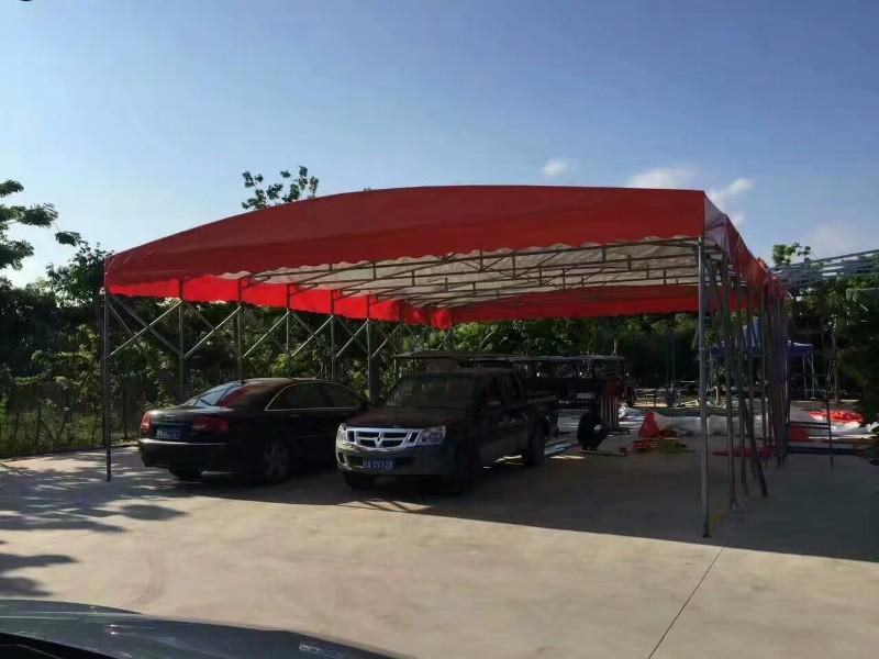 停车雨棚 钢结构车棚 找三亚恒进帐篷厂