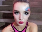 重庆化妆师-新娘跟妆-商务活动妆-夜店派对荧光彩绘