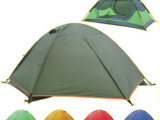 双人帐篷 双层铝杆帐篷 内帐双开门 透气网纱设计 航空铝材帐篷杆