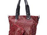 厂家直销2014新款韩版真皮女包手提包特价蛇纹牛皮包包一件代发
