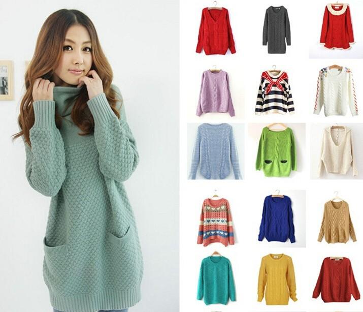 女装杂款毛衣 潮爆女式毛衣低价批发 便宜甩货库存女士毛衣