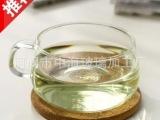 耐热咖啡杯350ml 带把透明,居家办公时尚选择高温耐热单层玻璃杯