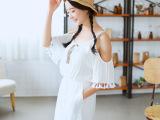 8号时尚 2015夏装新款高腰纯色连体裤性感圆领吊带裙裤 短裤