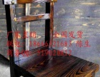 烧烤扎啤广场桌椅 酒店农庄桌椅田实木火锅餐桌椅火烧木家具