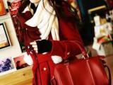 2014新款复古小辣椒波士顿包新娘包红色手提斜跨枕头包厂家直销
