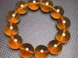 缅甸金棕琥珀手串