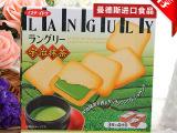 原装进口食品批发*日本 Languly依度宇治抹茶夹心饼133g