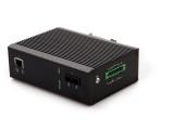 百兆1光1电工业级光纤交换机高清网络光端机