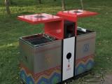 户外高档UV打印分类不锈钢垃圾桶不锈钢果皮箱厂家直销