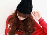 帽子 女冬天韩版 潮 针织帽毛线帽子韩国秋冬加厚保暖帽女士A-8