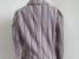 网库衣裤外贸女装彩条外套西装库存原单外贸