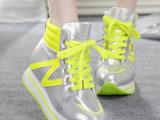 2014秋季新款 内增高厚底高帮鞋女韩版潮松糕鞋N字鞋温州女鞋批