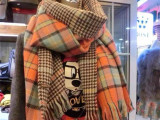 ZARA同款韩版秋冬款男女千鸟格子双面围巾披肩两用超长围巾批发