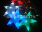 供应户外透明压克力造型 高压彩色灯串 防水LED五角星 十字点光源