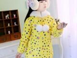儿童棉衣服女童中长款冬装加厚大童童装