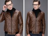 男士皮棉衣 海澜之家剪标 外贸批发男装尾货 男式皮棉夹克