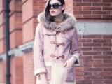 欧洲站冬新款棉衣女 加绒羊羔毛中长大衣 微信女装代发