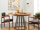美式创意实木茶几家用客厅餐桌复古做旧创意