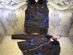 U556欧洲站 2015秋冬华家蝴蝶刺绣与嘻哈牛仔的完美结合背心热销