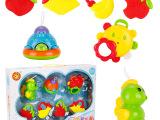 牙胶摇铃组合 婴幼儿手摇铃 宝宝玩具0-1岁婴儿玩具礼盒7套装