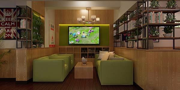 合肥网吧装修设计颜色搭配在装修中起着调节作用