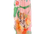 2014春夏新款欧美大牌街头风个性印花虎头前短后长雪纺半身长裙H