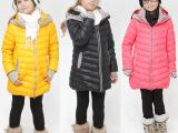 寅达2014新款女童羽绒服 碎花中长款中大童羽绒外套 儿童保暖冬