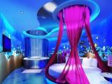 海底世界主题壁画 酒店KTV红唇主题情侣间背景墙3D壁纸