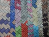 高级时尚擦色编织纹pvc皮革 箱包手袋包