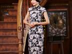 时尚良改优雅性感修身显瘦连衣裙复古演出长款优雅气质旗袍新礼服