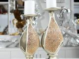 婚庆树脂工艺品烛台 高档家居装饰品摆件婚庆蜡烛摆设ZT03