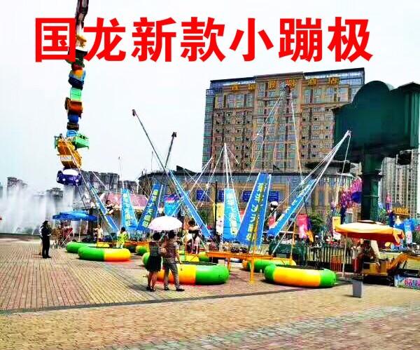 电动小蹦极,秋千飞鱼轨道小火车,蹦极跳床,激光打气球