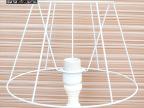 义乌国际商贸城批发定制羊皮布艺蕾丝台灯灯罩铁架子180X300X200