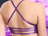 一片式无痕交叉肩带少女糖果色文胸聚拢内衣性感美背