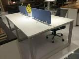 合肥现代钢架四人位办公桌椅铝合金六人位工位卡座厂家直销