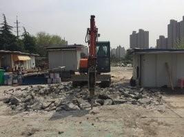 上海青浦区挖掘机出租房屋拆除,混泥土破碎