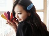 韩版发饰纯色磨砂BB夹水滴夹头饰糖果色发夹边夹 义乌小饰品可爱