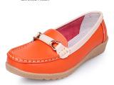 新款女单鞋 真皮平跟妈妈单鞋 牛筋底护士鞋中老年平底防滑女鞋子
