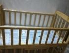 实木婴儿床低价转让