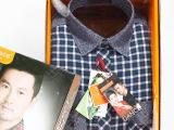 厂家直销 品牌正品剪标纯棉保暖衬衫 加绒剪标男士衬衫
