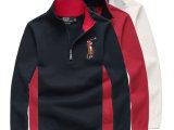 一件代发男秋冬季毛衣POLO领套头彩马针织衫男装欧版商务毛线衣