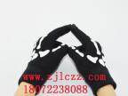 厂家新款流行时尚胶印手套 白骨触摸屏手套 骑行保暖创意手套