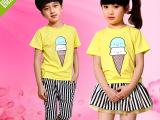 定制 幼儿园短袖园服中大童中小学生夏季校服班服儿童韩版套装幼