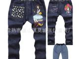 2014冬款童装童裤批发/女童牛仔棉裤长裤/厂家低价特价销售
