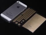 iPhone5s土豪金贴膜 iPhone5 苹果4拉丝贴膜土豪金