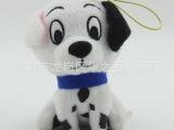 厂家定制小号斑点狗毛绒玩具 坐姿公仔狗挂件 宠物玩偶吊饰打样