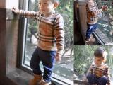 2015春款儿童童装男童加绒打底上衣小童大牌同款宝宝加厚毛衣 潮