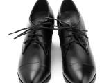 2014新款短靴韩版时尚真皮防水台系带马丁靴子中跟粗跟欧美潮女鞋